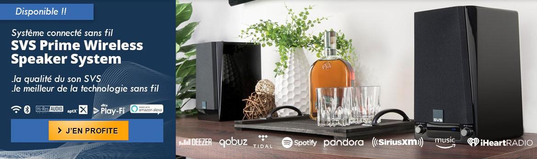 Nouveautés ! Nouvelle gamme SVS Prime Wireless, enceintes Hifi sans fil et amplificateur réseau surpuissants avec technologie DTS Play-Fi