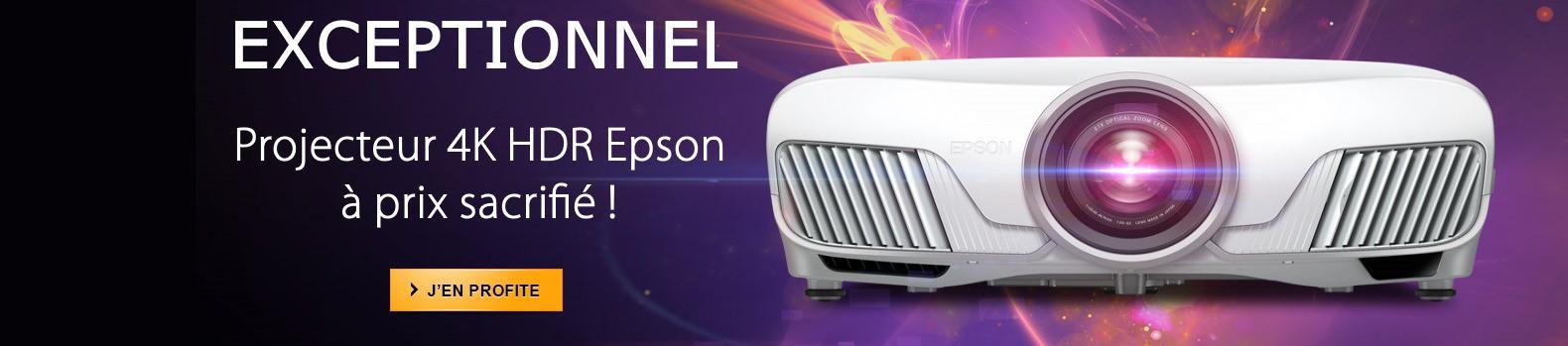 Découvrez notre promotion sur le projecteur 4K HDR Epson EH-TW7300