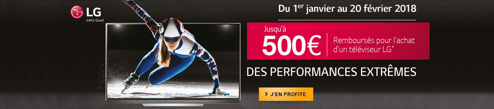 Jusqu'à 500€ remboursés pour l'achat d'un téléviseur LG