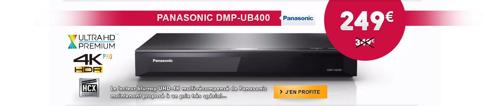 Promo sur le lecteur Blu-ray 4K-UHD Panasonic DMP-UB400