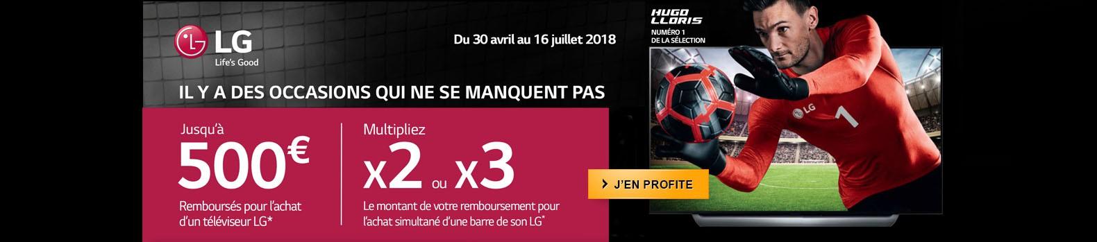 Jusqu'au 16 juillet, bénéficiez d'un remboursement pouvant aller jusqu'à 1500€ pour l'achat d'un TV Oled LG + la barre de son
