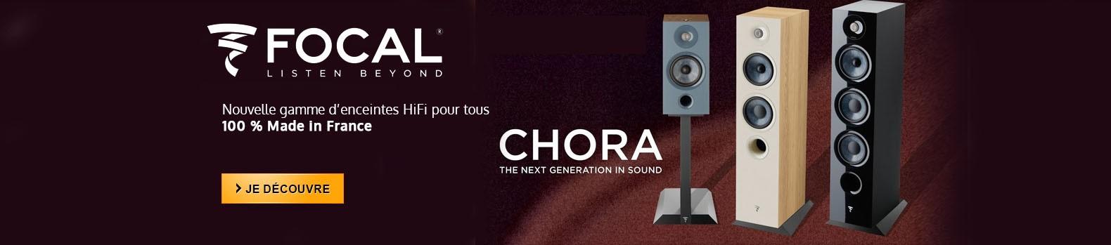 Nouvelles enceintes Focal Chora 100% made in France