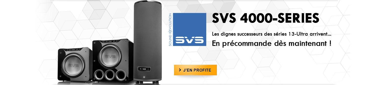Nouveaux caissons de basses SVS 4000 series !