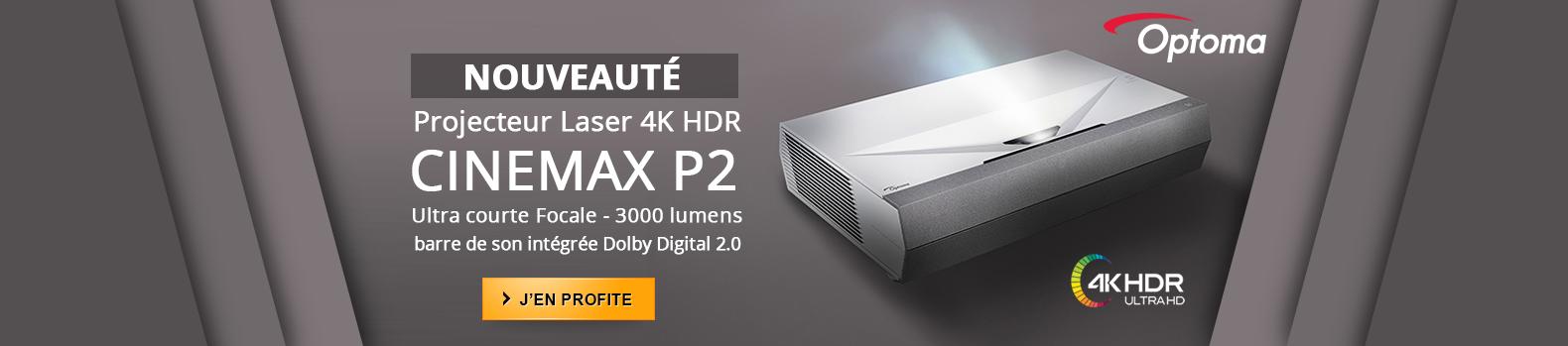 Nouveau projecteur Ultra courte Focale Optoma : Cinemax P2